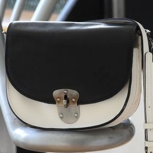 NEW Patricia Nash Bettina Colorblock Saddle  Bag